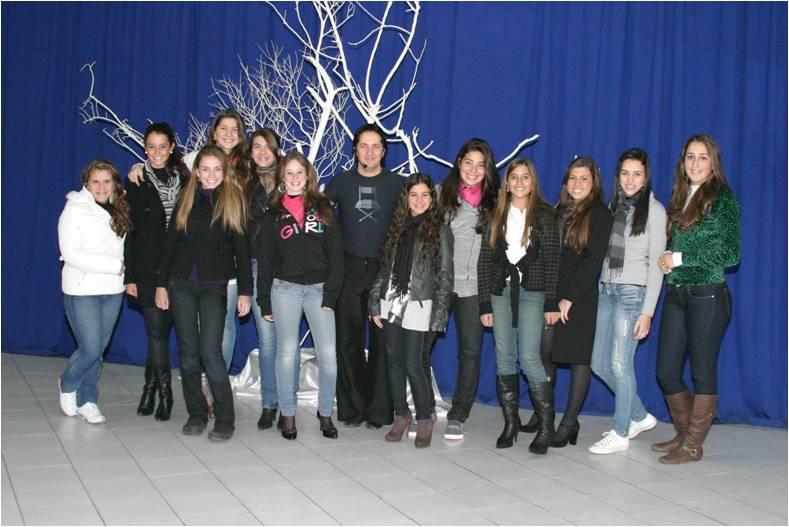 Debutantes com Prof. Marcos do Clube da Dança